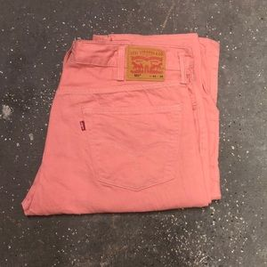 Levi's 501s button fly pretty in pink 42x34